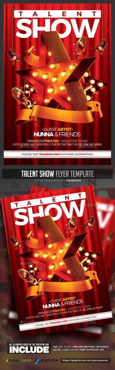 Talent Show u2013 Free Flyer PSD Template + Facebook Cover Free PSD - talent show flyer