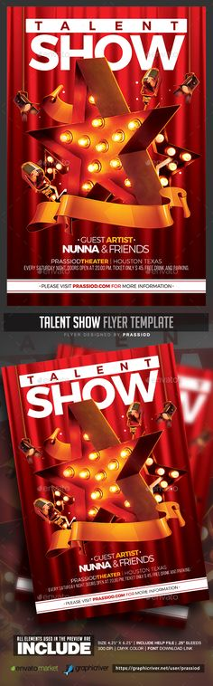 Minimal Summer Texts, Summer and Minimal - talent show flyer