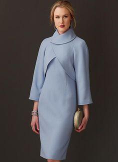 V9266 | Misses' Lined Raglan-Sleeve Jacket and Funnel-Neck Dress Sewing Pattern | Vogue Patterns