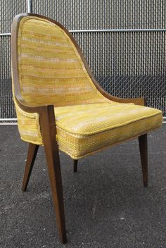 Harvey Probber Yellow Modern Lounge Chair  same style chair from the  infamous 1960 s ad PAIR OF DANISH MODERN SCULPTED SPINDLE BACK LOUNGE CHAIRS  . Modern Yellow Lounge Chair. Home Design Ideas