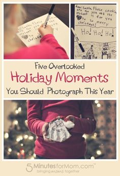 Overlooked Holiday Moments to Photograph This Year. Love these great Christmas picture ideas!