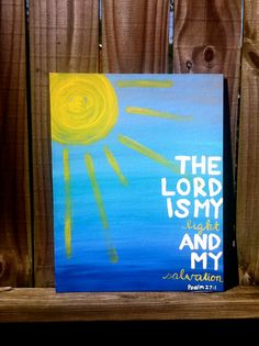 The Lord is My Light canvas by SareBearDesigns on Etsy, $35.00 ***For the Toy Room***