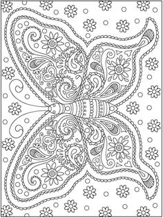 Printable coloring pages for adults, books, mandalas Free Adult Coloring Pages, Free Coloring Sheets, Coloring Book Pages, Printable Coloring Pages, Coloring Pages For Kids, Butterfly Coloring Page, Henna Body Art, Mandala Coloring, Mandala Art