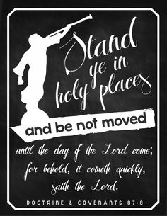 Sisters in Zion, Freshaire Designs: Stand Ye In Holy Places {SHARE}