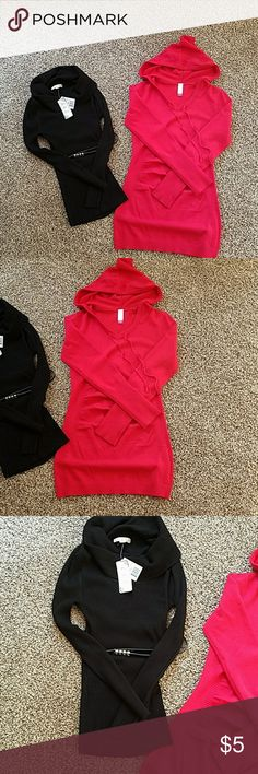 Ladies dressy sweater bundle. Size M Ladies dressy sweater bundle. Both are brand new.  The red has no tags but is new. Size M. No boundaries and It's Our Time from Kohls.  Super cute. Just don't fit me. Sorry no trades It's Our Time Sweaters