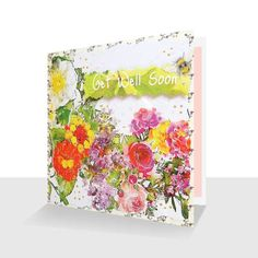 Get Well Soon Card:Wild Flowers with Bee, Greetings Cards Online Get Well Soon, Unique Cards, Blush Color, Watercolour Painting, Wild Flowers, Bee, Greeting Cards, Luxury, Floral