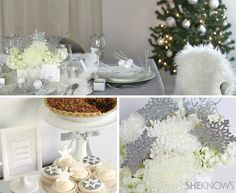 Create a winter wonderland holiday party