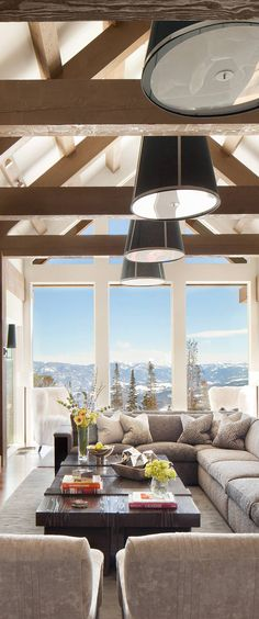 Locati Architects Modern Rustic Living Room #livingroomideas #livingrooms #modernrusticlivingroom #rusticlivingroom #cabins #decoratingideas