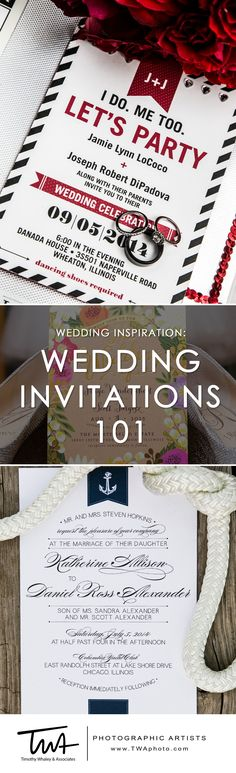 For a little wedding inspiration, we've compiled a quick guide to all things invitations, and included some of our favorite styles. #Wedding Invitations