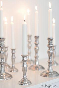 Madam Stoltz antique silver candlestands
