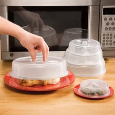 Vented Microwave Plate Covers - Set of 5 - Zoom
