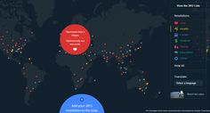 Wondering what the world's resolutions were for 2013? Google can help with this interactive map
