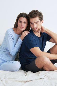 Sleep better with Dagsmejan's sleep enhancing pajamas Most Comfortable Pajamas, Cotton Pjs, Best Pajamas, Fibre And Fabric, Swedish Design, Sleep Shirt, Feel Tired, Good Night Sleep, Stay Warm