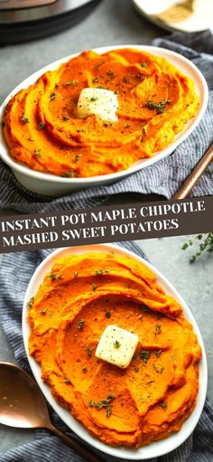 These Instant Pot Maple Chipotle Mashed Sweet Potatoes are an elegant side dish for Thanksgiving or Christmas, but are great as a side dish for a weeknight dinner. A little sweet and a little spicy, these mashed sweet potatoes are fast and easy and made entirely in your electric pressure cooker.