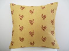 Cute Red Rooster Pillow Cover, Decor Pillow, Accent Pillow, Designer Pillow on Etsy, $23.00