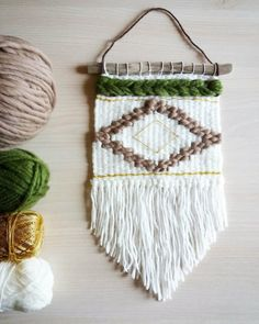 #Tissage losange - décoration murale #weaving wall hanging handmade