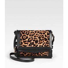 Christian Louboutin Farida Leopard-Print Haircalf Messenger ($1,995) ❤ liked on Polyvore