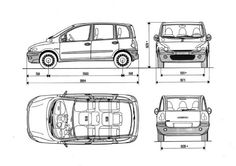 Fiat Multipla Paper Car, Fiat 600, Car Drawings, Car Sketch, Alfa Romeo, Concept Art, Automobile, Sketches, Design Inspiration