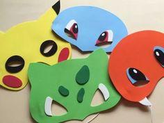 10 máscaras pokemon herois fantasia festa lembrancinha eva