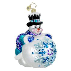 Christopher Radko Christmas Ornament - Rollin' Out the Holidays