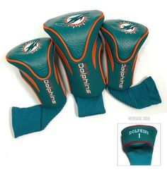 Miami Dolphins Contour Gollf Club HeadCover - 3 Pack