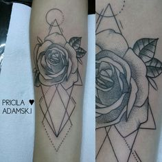 Rose tattoo by @priitattoo
