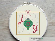 christmas cross stitch pattern, JOY, modern cross stitch, PDF, ** instant download**