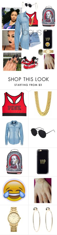 """I been ballin for a while now"" by cliche12302 ❤ liked on Polyvore featuring Victoria's Secret, Levi's, Vero Moda, Sprayground, Casetify, Topshop and Bebe"