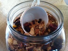 Granola - when you hear this you may think of hippies dancing in the field with flowers in their hair! This is not a hippy version! This is the best! Brunch Recipes, Breakfast Recipes, Vegan Recipes, Snack Recipes, Dried Cherries, Dried Fruit, Best Granola, Yummy Treats, Yummy Food