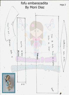 moldes de fofucha embarazada (2)