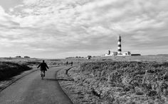 The pursuit of happyness by bike on Ouessant Island.