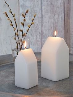 Home is where the heart is, so light a host of these sweet little house-shaped candles and feel the love!
