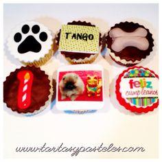 Cupcakes cumpleaños de mascotas