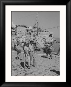 Actress Melina Mercouri and Tony Perkins on Island of Hydra During Filming of