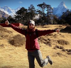 Above Namche Bazaar by the Everest View Hotel