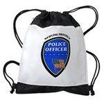 Police Serving Proudly Drawstring Bag