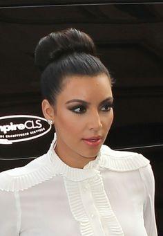 Kim Kardashians killer topknot