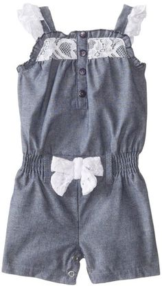 Little Lass Chambray One Piece Romper--18 Months--New With Tags #LittleLass #DressyEveryday