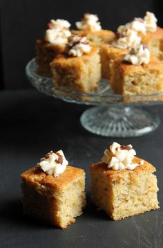 Swede (Rutabaga) Nutmeg Cake with Brown Butter Frosting and Salted Hazelnuts http://veggiedesserts.co.uk/