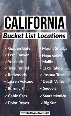 If you are looking for the perfect Northern California road trip itinerary, this is it! From Volcanoes and waterfalls to Redwoods and coastal views, a Northern California road trip has something for everyone! You can do this road trip itinerary in as long Voyage Usa, Destination Voyage, Road Trip Usa, Future Travel, Travel List, Where To Go, Trip Planning, Places To Travel, California California