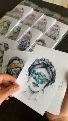 artist study: A Level Art Beauty Illustration, Watercolor Illustration, Watercolor Paintings, Watercolor Sketch, Ink Painting, Sketch Video, Drawing Sketches, Art Drawings, Drawing Art