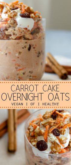 These carrot cake overnight oats are your new busy morning savour! With only 7 i… These carrot cake overnight oats are your new busy morning savour! With only 7 ingredients in under 5 minutes you can magic up a fun… Continue Reading → Breakfast And Brunch, Low Carb Vegan Breakfast, Nutritious Breakfast, Healthy Breakfast Recipes, Healthy Drinks, Healthy Snacks, Healthy Recipes, Vegan On The Go Breakfast, Breakfast Cake