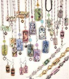 Domino necklaces
