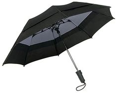 Windbrella 44 Georgetown Folder Umbrella Black *** Find out more about the great product at the image link. This Amazon pins is an affiliate link to Amazon.
