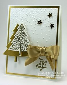 Clean and Simple Peaceful Pines for The Paper Players - The Stampin' Schach