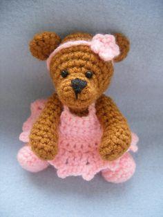 """Ballerina teddy bear pattern.  Crochet, amigurumi"" #Amigurumi  #crochet"