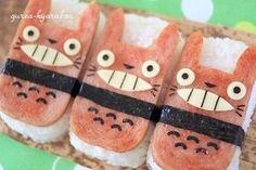 Totoro i ♥ Bento Totoro, Cute Food, Yummy Food, Sushi, Japanese Food Art, Cute Bento Boxes, Kawaii Bento, Bento Recipes, Food Humor