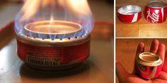 Cómo hacer una estufa de alcohol con una lata