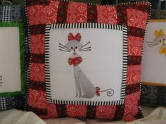 Embroidered Quilt Block Cushion applique.