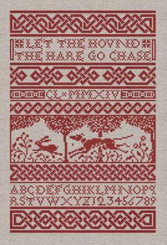The Hound & The Hare Cross-Stitch Pattern - Instant Download PDF Pattern